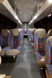 Shuttle Bus Interior Sam's Limousine