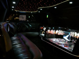 Interior of SUV Limousine
