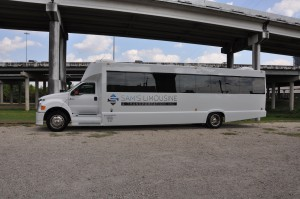 Shuttle Bus Exterior Houston